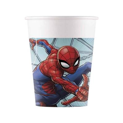 8 Gobelets Spiderman 20 cl
