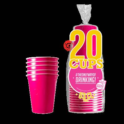 20 Gobelets Rose 53cl ORIGINAL CUP