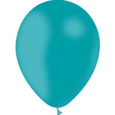 50 Ballons Turquoise 28cm
