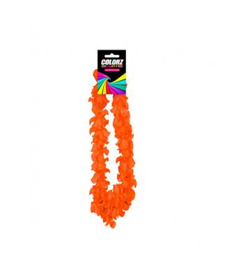 Collier Hawaïen orange Fluo 50cm