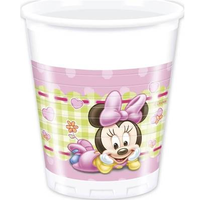 8 Gobelets BABY MINNIE 20 cl