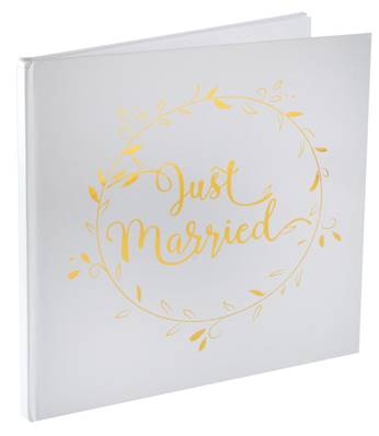 Livre d'or just maried 24 x 24cm