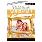 Cadre Photobooth Or gonflable 85X65cm gonflage air avec paille