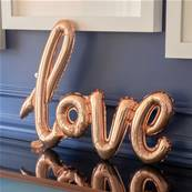Ballon lettre LOVE rose gold, 1m x 67,6cm gonflage air